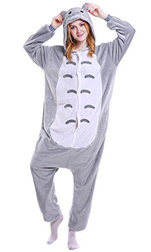 Dolamen Adulte Unisexe Kigurumi Combinaison Pyjama Onesies, Femme Homme Fleece Anime Cosplay...
