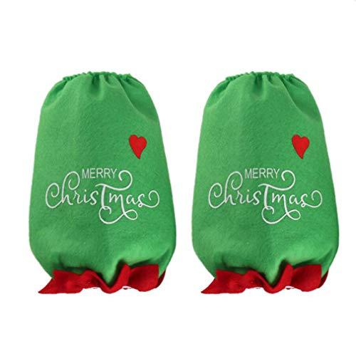 #N/A Zoomne 1 Paar Weihnachtsküchenarmhülsen, die die schützende Hausarbeitsüberhülle reinigen,Elf