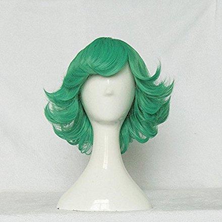 One Punch Man 流行 Tatsumaki Green 35cm Cosplay Ca Wig Free SALE Curly