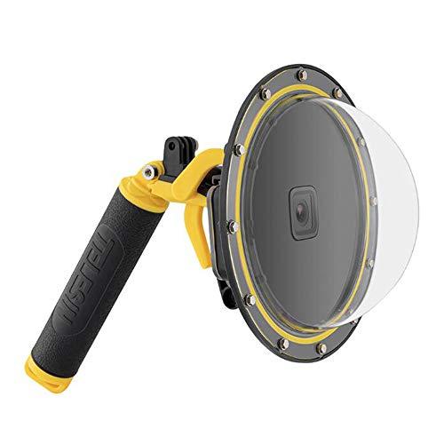 Taoric Dome-Anschluss für GoPro Hero9 Schwarz, Unterwasser 6 Zoll GoPro Diving Dome-Anschluss mit wasserdichter Abdeckung + schwimmendem Bobber-Griff + Abzug für GoPro Hero 9 Blakc
