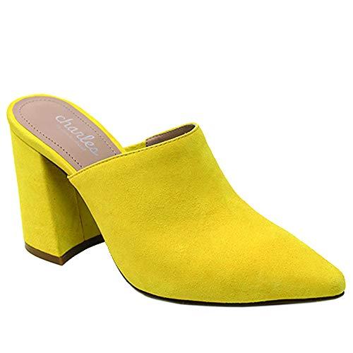 CHARLES BY CHARLES DAVID womens High Heel Dress Mule, Sunshine Yellow, 9 US