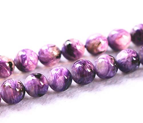 Lot de 47 perles de charoïte naturelles AA 6 mm 8 mm 10 mm 12 mm