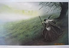 LOTR Hobbit Frameable Fine Art Poster GANDALF 1st Edition 1993 JOHN HOWE
