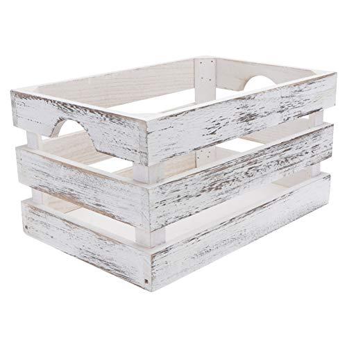 POPETPOP Caja de Nido de Madera Cajas de Almacenamiento Decorativas Caja de Caja Apilable Contenedor de Almacenamiento de Casa de Campo Rústico para Frutas Juguetes Vegetales 30X20x16cm