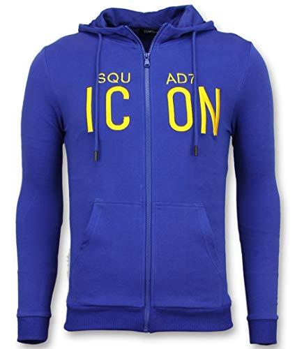 Vest Met Capuchon Heren - ICONS Trui - Blauw