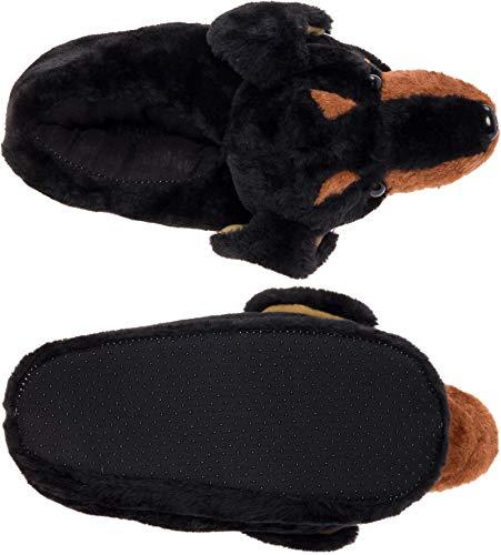 Silver Lilly Dachshund Slippers – Plush Dog Slippers w/Platform