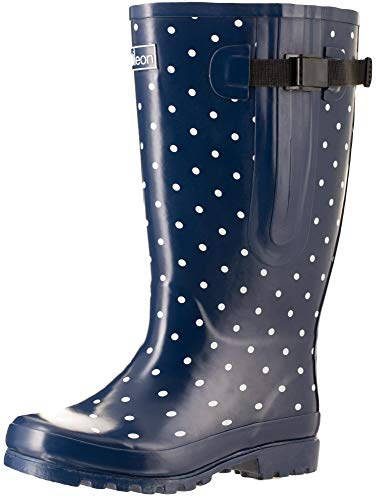 """Jileon Extra Wide Calf Rain Boots for Women 