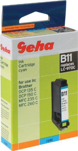 Geha Tintenpatrone für Brother ersetzt Nr. LC 970C cyan