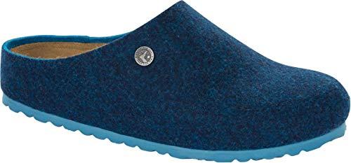 BIRKENSTOCK Clog Kaprun 1013000 - Zuecos de lana (doble cara, talla 35-46), color azul, color Azul, talla 38 EU Schmal