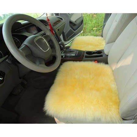 1 x originele schapenvacht stoelhoezen met lange wollen autostoelhoezen stoelkussen 18