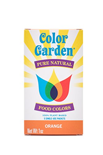 Color Garden Pure Natural Food Colors, Orange 5 ct. 1 oz.