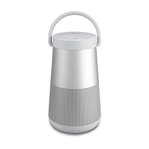 Bose SoundLink Revolve+ (Serie II) Tragbarer Bluetooth-Lautsprecher, kabelloser, wasserabweisender Lautsprecher mit langlebiger Batterie, silberfarben