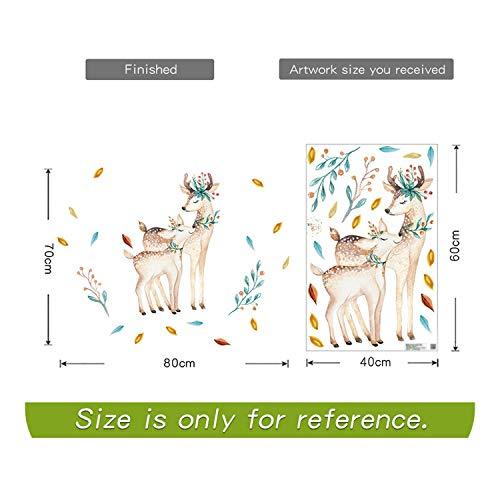Liebesbrief Aufkleber, Niedliche Cartoon Tiere Wandaufkleber Kinderzimmer Dekoration Kaninchen Hirsch Eichhörnchen Fuchs Märchen Anime Poster Selbstklebend Abnehmbar-Stil B-