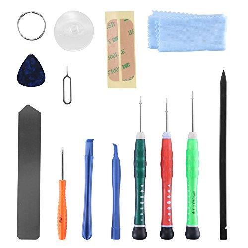 LXSTARS 13 Piezas Herramientas de Apertura de la Caja del teléfono Inteligente Herramientas de Palanca de plástico Pantalla sin arañazos para la Tableta iPhone X 8 7