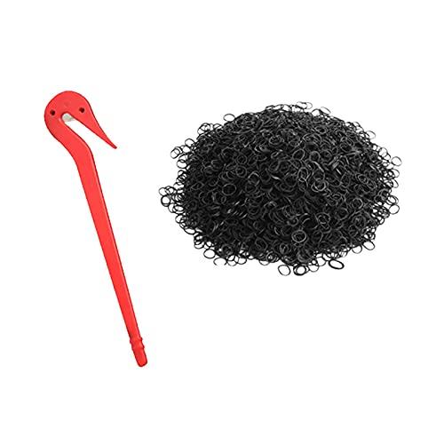 Mini bandas de goma, bandas de goma multicolor con herramienta removedora de goma Set de banda para el pelo de niño trenzas de pelo