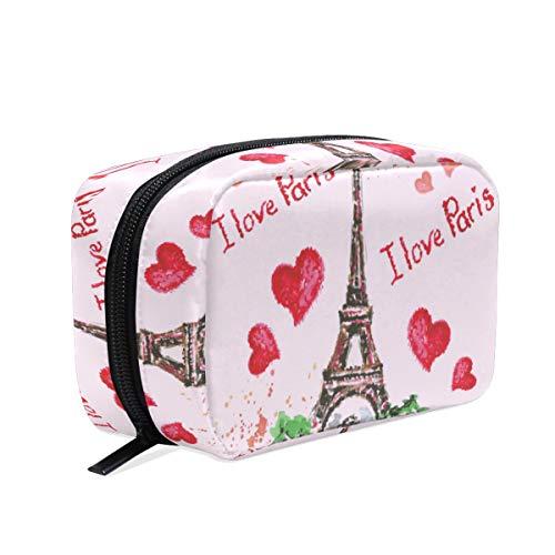 Mallette de beauté avec motif Eiffel et rossi - Idéale pour le père Noël