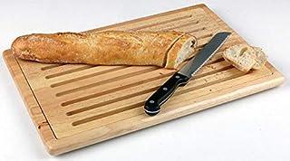 """APS Tabla para cortar """"Rubber Wood - tabla de cortar tablero de madera tabla de cortar pan con bandeja de migas extraíb..."""