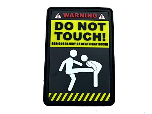 Warning Do Not Touch Cosplay Airsoft PVC Klett Emblem Abzeichen Patch