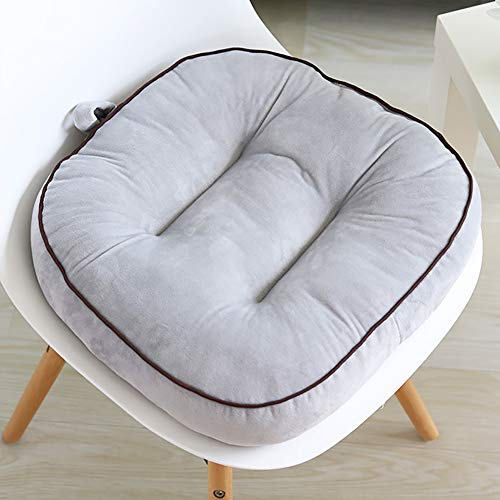 ZJZJ Ultra Suave Memoria Silla De Oficina,Suave Comodidad Cojín De Asiento,General Cuatro Temporadas Coche Seat Cushion Gris 43cm