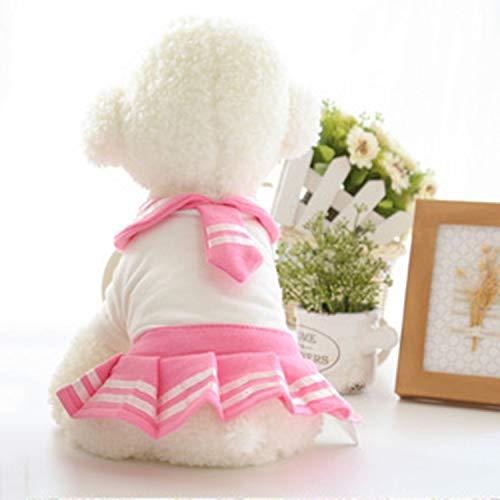 Radiancy Inc huisdier jas zomer huisdier kostuum school hond kleding schattige rok huisdier zeeman pak, kleine sjaals school rok huisdier hond casual rok, maat: XS, Kleur2