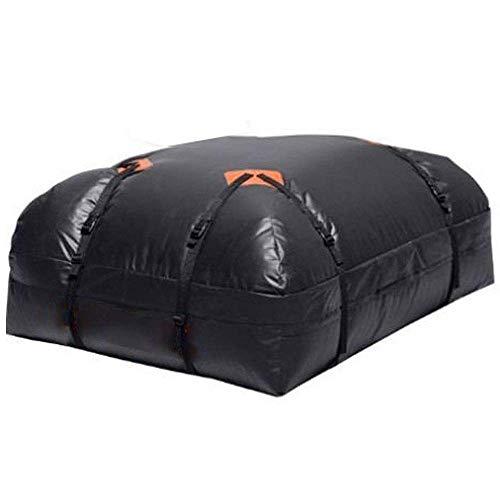 MHYNLMW Dachgepäckträger, der ultimative Auto-Dachgepäckträger für alle Fahrzeugdachträger, LKW, einzigartiges wasserdichtes Design (Farbe: Schwarz, Größe: 111 x 86 x 33 cm)