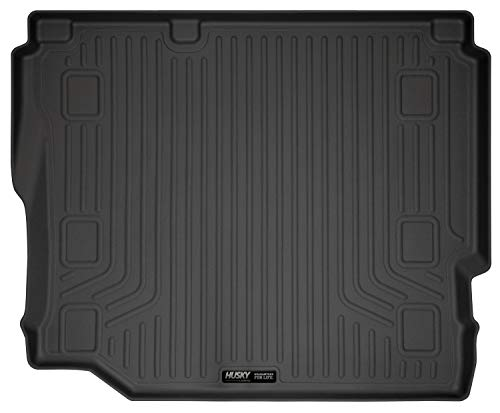 Husky Liners Fits 2018-19 Jeep Wrangler Unlimited with Cloth seats/without subwoofer Cargo Liner,Black,20721