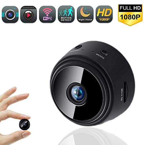 Mini Spy Camera 1080P Hidden Camera, with WiFi Small Portable Wireless Home Security Surveillance Covert Tiny Camera with Night Vision, Motion Detection, Remote View Hidden Spy Cam