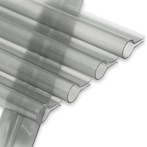 NOOR Klemmschienen Premium 19 x 1,5cm I Transparente, unauffällige Klemmleisten für Sichtschutzstreifen I 15er Set