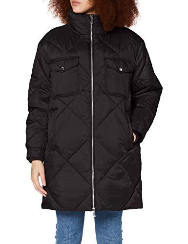 Tommy Jeans Damen TJW Diamond Quilted Coat Jacke, Schwarz, Small