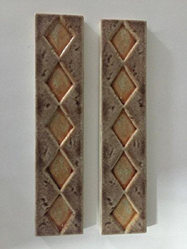 Listello Greca in Ceramica di Natucer Ceramiche per Decorazione Rivestimenti Bagno e Cucina - Serie Liberty cm 4 x 20 Confezione da 20 pz.