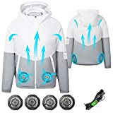 ARRIS 5V USB Cooling Jacket, Air Conditioning Jacket With 4 Fans, UV Resistant Cooling AC Fan Jacket