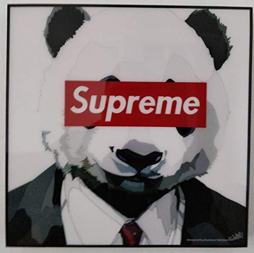 GLAGOODS Panda Supremo Diseñador Iconic Película de Dibujos Animados Pop Art Lienzo Enmarcado Arte de la Pared Impresión Póster Vinilo Regalo Citas