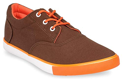 Hipster Mens Solid Skate Shoe, Brown, 8 D(M) US