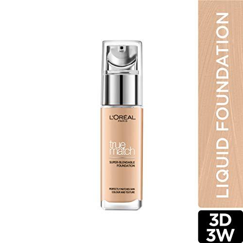 L'Oreal Paris True Match Super Blendable Liquid Foundation Golden Beige 3D3W, 30ml