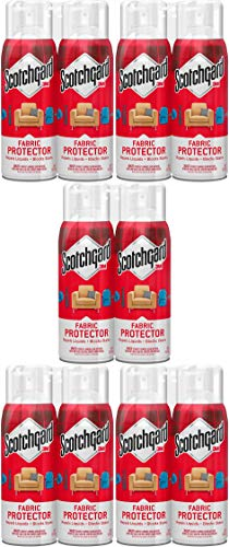 Scotchgard Fabric & Upholstery Protector, 2 Cans/10-Ounce (20 Ounces Total) Pack of 5