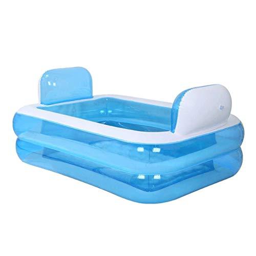 WHJYO Aufblasbare Badewanne - Blau, Swimming-Pool Tragbarer Kinder aufblasbare Swimmingpool Badewanne Kind Baby Newborn aufblasbare Badewanne