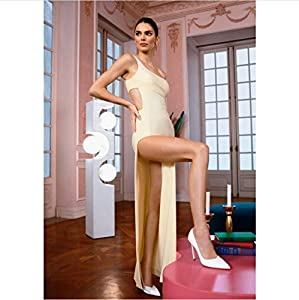 danyangshop Pintura De Lienzo Kardashian Kendall Jenner Modelo Vestido De Moda Vestido Sociedad Dama Ropa Interior Reina Chica Póster Arte De Pared P-517 (50X90Cm) Sin Marco