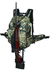 1,853 cubic inch capacity Cool-mesh lined for comfort Densly padded hip belt and shoulder straps Five outside pockets, mesh interior pockets Integrated long gun carry system