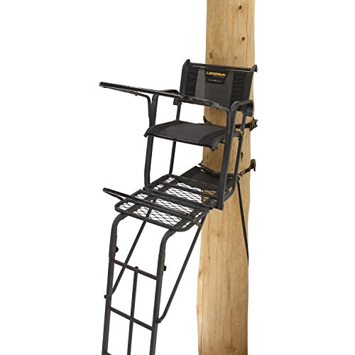 Rivers Edge RE651 Ladder Stand Lockdown Tall, Black