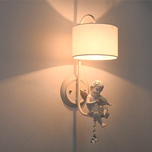 Nordic creatieve kinderkamer slaapkamer wandlamp Amerikaans eenvoudige spiegel voorlamp Europese nachtwandlamp engel wandlamp groothandel (met 12 watt warme L,C?)