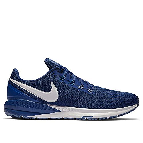 Nike Air Zoom Structure 22 Running Shoe Wide (2E) Blue Void/VAST Grey-Gym Blue 13.0