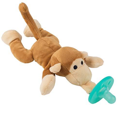 Affe-Schmusetier Schnuller, Baby Silikon-Sauger Schnuller BPA Frei, Tier Softes Kuscheltier, Plüschtier (Affe)