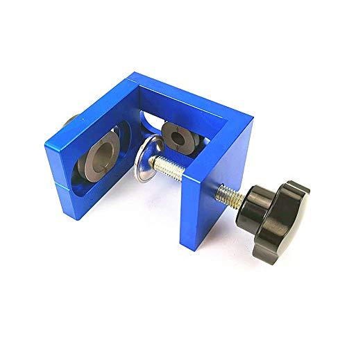 Kit de localizador de perforación, herramientas de guía para perforación, juego de posicionamiento 3 en 1, perforadora de carpintería de aluminio, azul