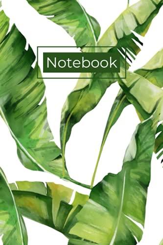Banana Leaf Notebook: Tropical Plants Dot Grid Journal