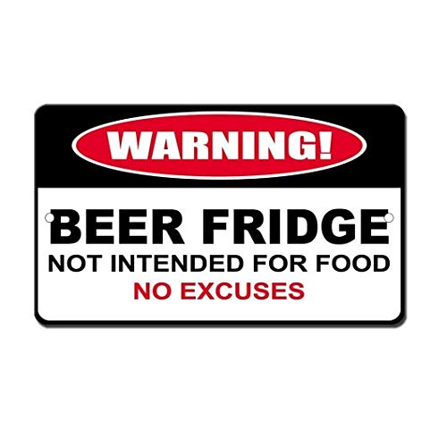 Vintage Style Nostalgic Advertising Wall Sign 12x16,Humor Beer Fridge Not for Food,Materials Iron Painting Tin Sign Vintage Wall Decor for Cafe Bar Pub Home Beer Decoration Crafts