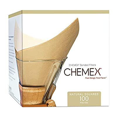 CHEMEX Natural Coffee Filter Square
