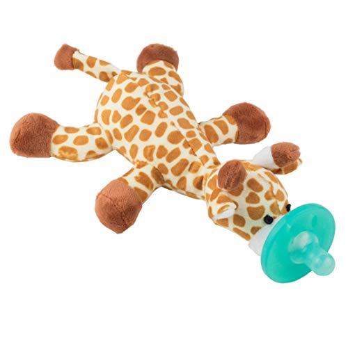 Chupete con Jirafa Cheeky Chimp, Juguete de felpa suave con chupón de silicona médica sin BPA, Chupeta con peluche para bebé, chupete de animales (Jirafa)