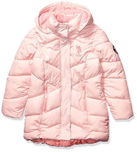 US Polo Association Girls' Toddler Outerwear Jacket (More Styles Available), Blush, 2T