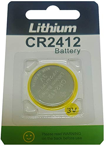EASTCELL 1 x CR2412 3V Lithium Knopfzelle 100 mAh (1 Blistercard a 1 Batterien) Markenware