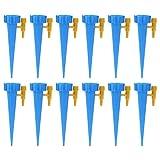 TIGERROSA Nebulizador Terraza 12Pcs / Set Sistema De Riego Automático por Riego por Goteo Pico De Riego Automático para Plantas Flor Botella De Bebederos Domésticos De Interior-12 Piezas Azul